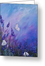 Lavender In Summer Greeting Card by Laura Wilson