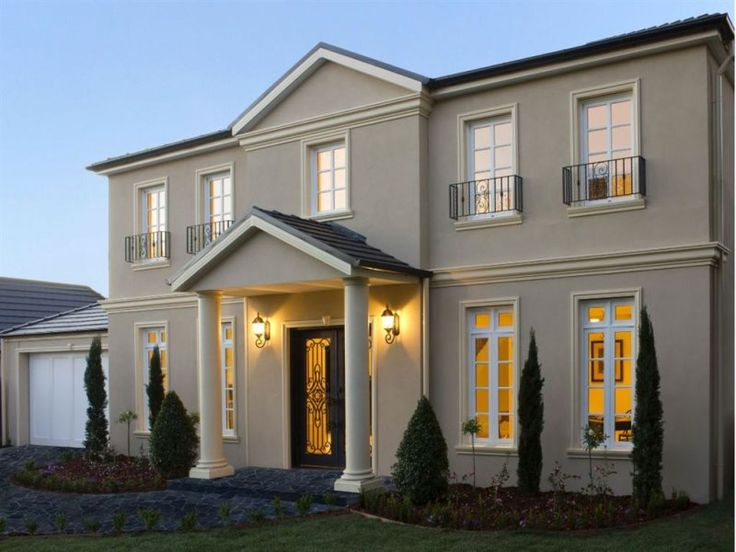 21 house facade ideas in 2019 facades facade house - Georgian style exterior lighting ...