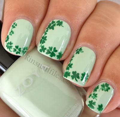 127 best st patricks day nail design images on pinterest rins nail files st patricks day featuring zoya neely and acrylic paint shamrocks prinsesfo Images
