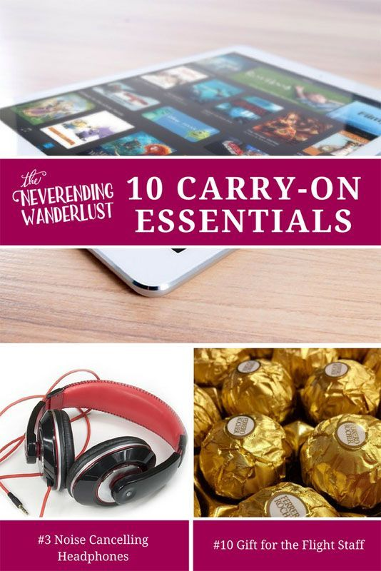 What to Pack for a Long Haul Flight – Carry-On Essentials