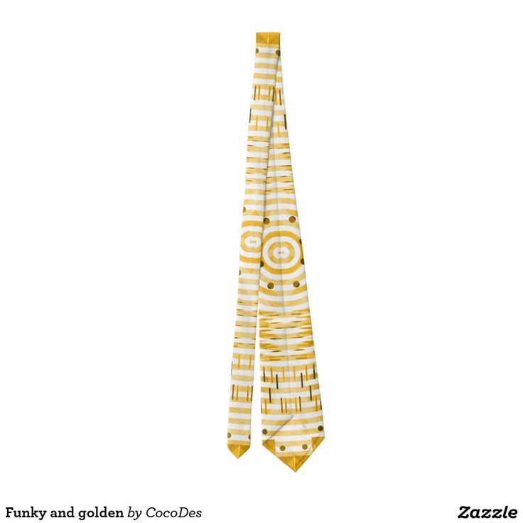 Funky and golden tie @zazzle