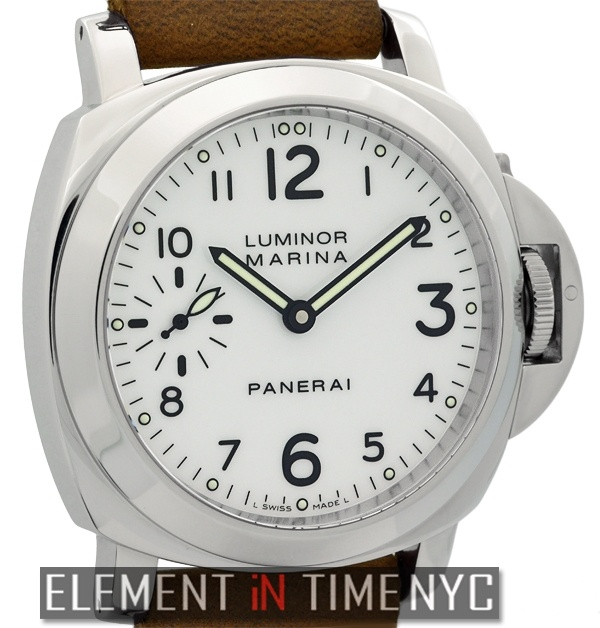 Element In Time | Officine Panerai Luminor PAM 113 Stainless Steel 44mm White Arabic Dial
