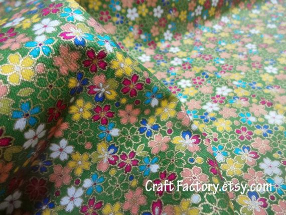 Japanese Cotton fabric Quilting Fabric Patchwork by craftfactory