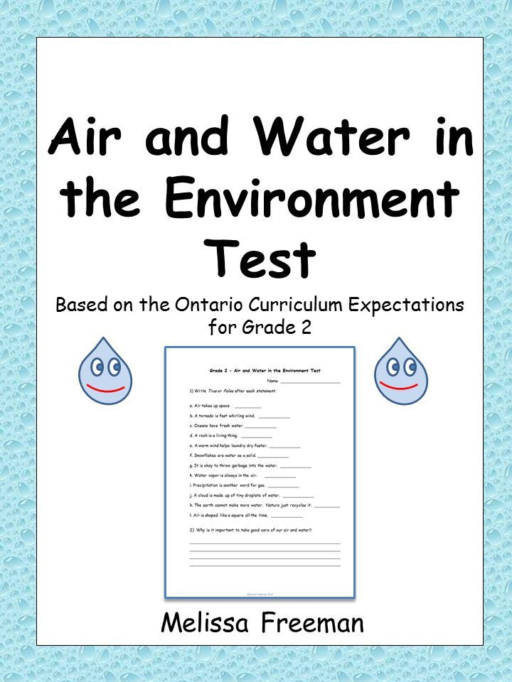 air and water in the environment test for grade 2 ontario curriculum resources grade 2. Black Bedroom Furniture Sets. Home Design Ideas