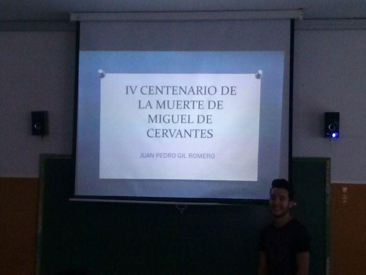 Exposiciones en el aula sobre la obra de Miguel de Cervantes. 1º Bchto A. Propuesta de la profesora Yolanda Jiménez