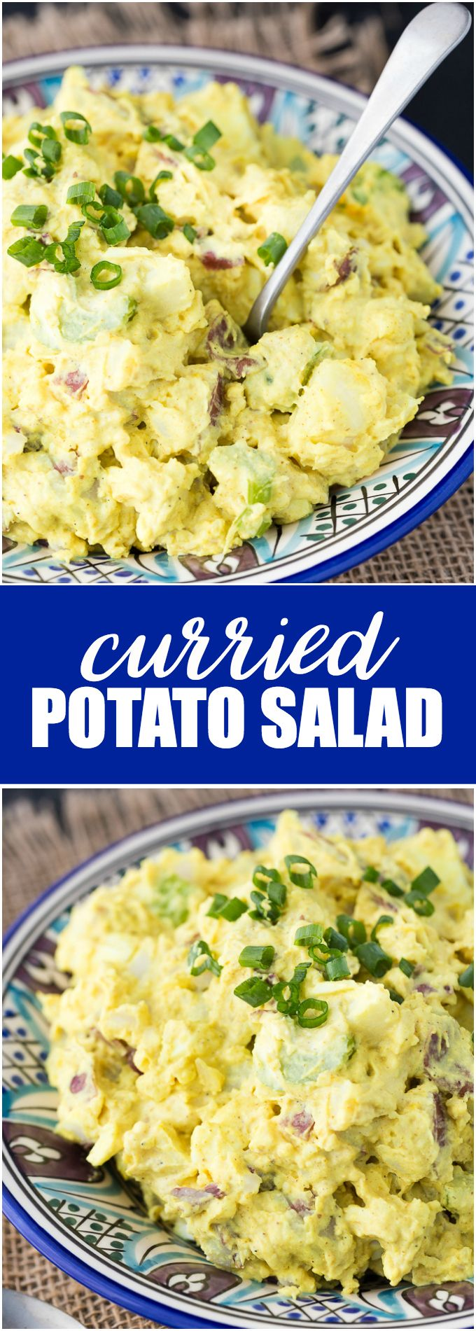 Curried Potato Salad - An easy side perfect for your backyard BBQ!