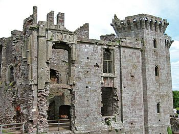 Raglan Castle in Wales, where Henry VII spent part of his youth
