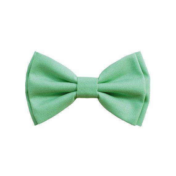 Papillon verde menta cucito a mano papillon per di ScoccaPapillon