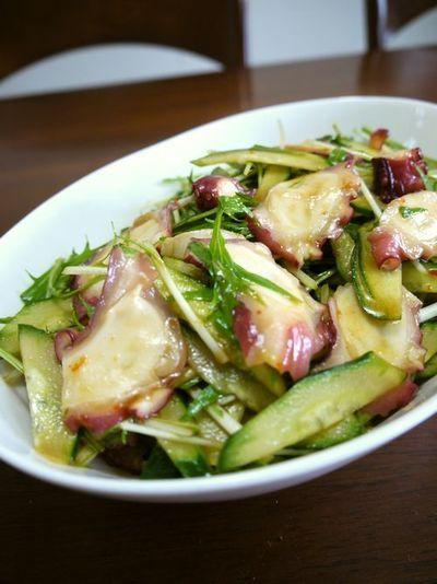 タコの水菜ときゅうりの中華サラダ♪ by bvividさん | レシピブログ ...