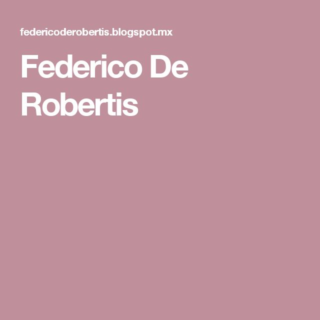Federico De Robertis