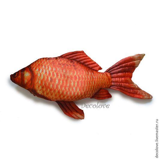 Подарки для мужчин, ручной работы. Рыба-подушка «Карась. Золотая Рыбка». Подарок на день рождения ребенку. ДекоПодушки (Надежда). Ярмарка Мастеров.
