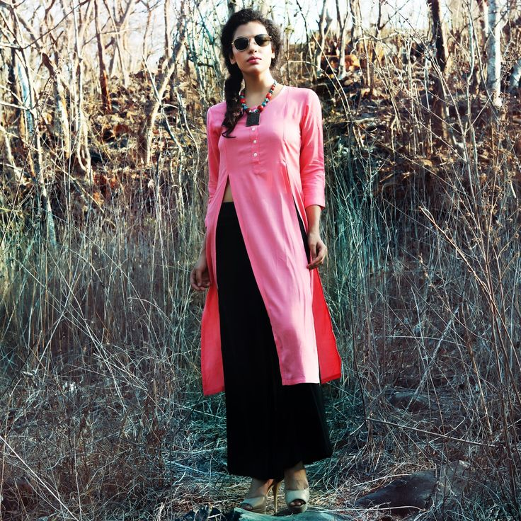 #Lalgulal #Pink Fluidic Linen Slub #Latest Stylish Readymade #Indo-#Western Kurti. Buy Now :- http://goo.gl/eOu6wF To Order you Call or #Whatsapp us on +91-95121-50402. #COD & #FreeShipping Available only in India.