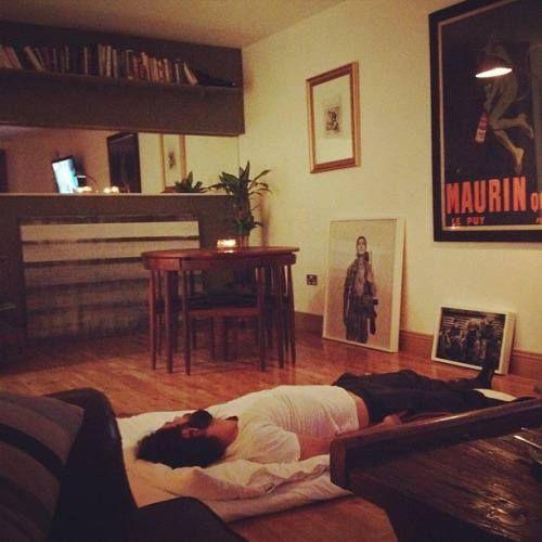 Aidan Turner' crashing at his parents' house. LOL!!