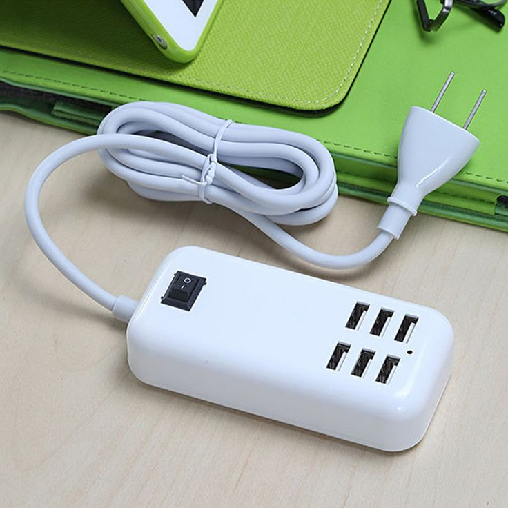 YCDC UK EU US Plug Home Travel Charger Wall Power Adapter 6 Ports USB Socket Hub +1 Switch For PDAs/iPhone/Samsung/HTC/LG/iPod