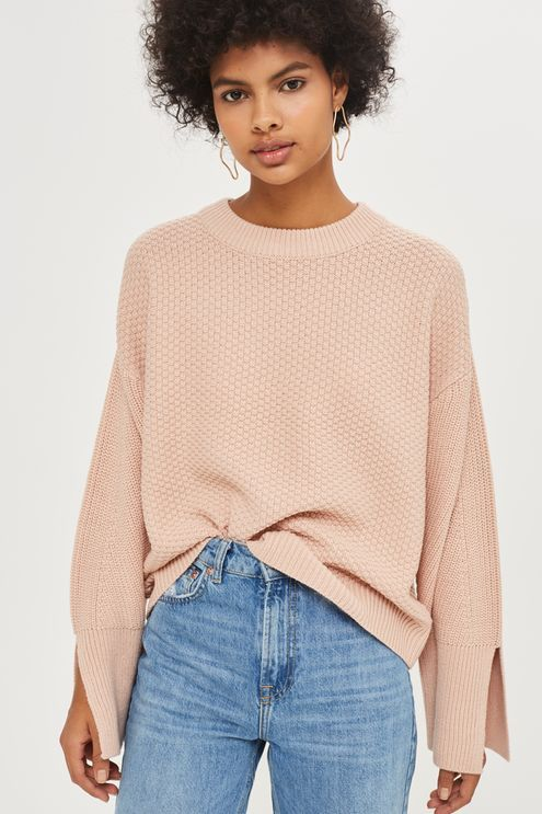 Knitted Wide Sleeve Top