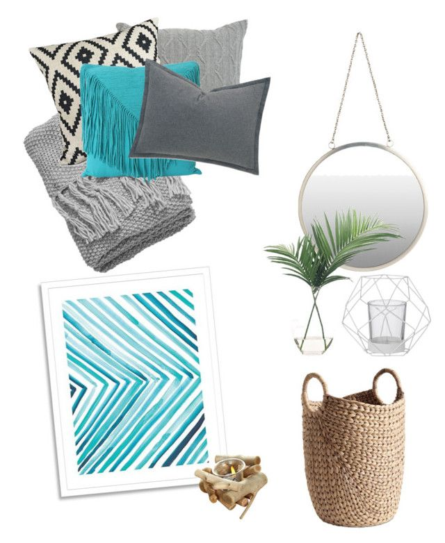Gästrum by amandaahlm on Polyvore featuring polyvore, interior, interiors, interior design, home, home decor, interior decorating, Barclay Butera, Ethan Allen, H&M, NDI, West Elm, Bloomingville and BoConcept