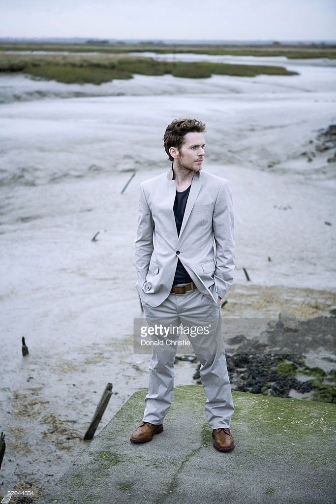 Actor Shaun Evans poses for a portrait shoot on the Thames estuary for FHM magazine, December 4, 2007.