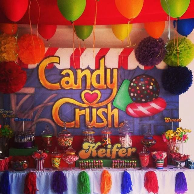 Candy Crush Party!  See more party ideas at CatchMyParty.com!  #partyideas #candy