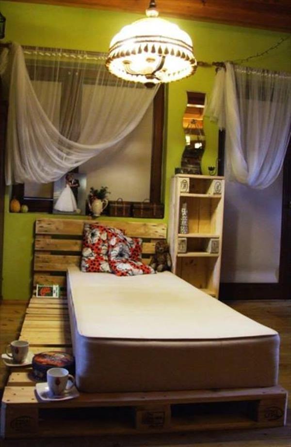 Pallet Bed and Storage Ideas | Pallet Furniture Plans