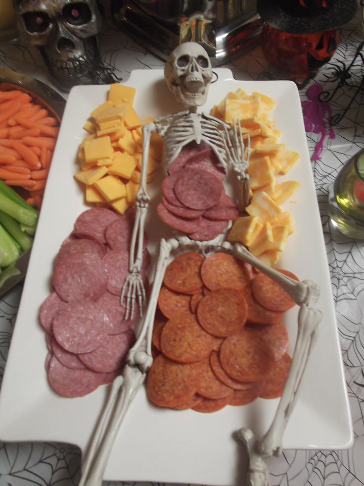 Halloween Meat and Cheese appetizer