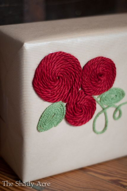 gift wrapping ideas   Inexpensive Gift Wrap Ideas Using Yarn   The Shady Acre