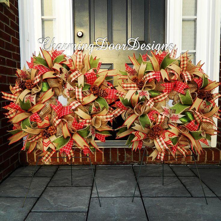 143 Best Front Door Planter Double Matching Wreath Ideas Images On Pinterest