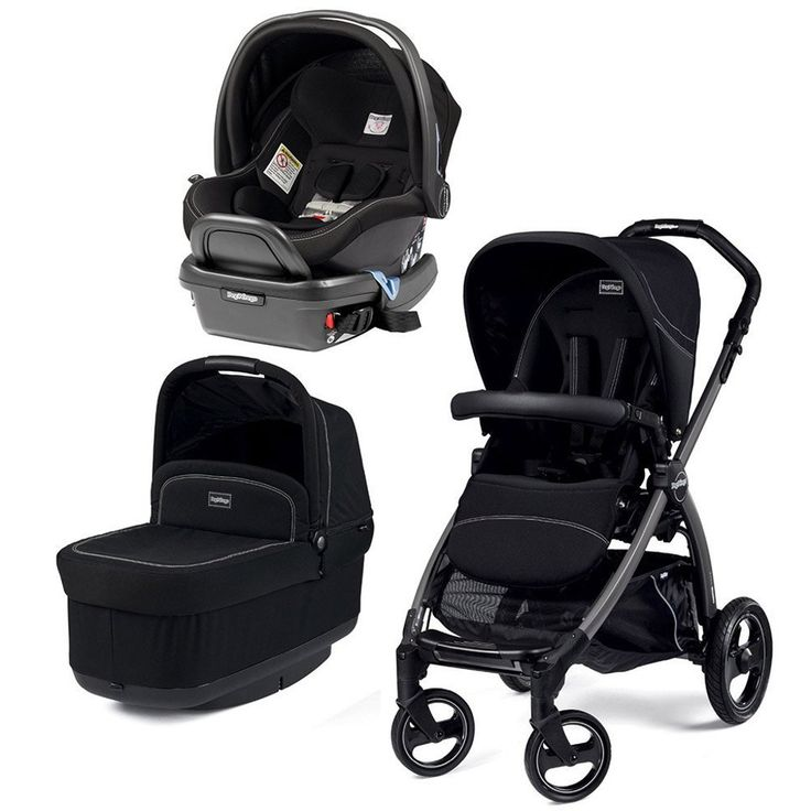 Peg Perego Book Pop Up Stroller with Primo Viaggio 4/35 Infant Car Seat, Onyx