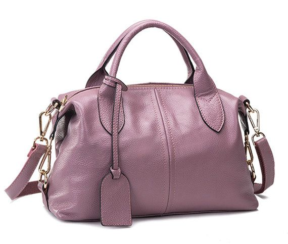 Medium Size Modern Causal Chic Dusty Pink Leather by BagMagic
