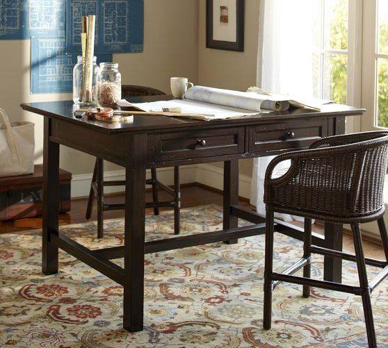 Home Office Whitney Project Table Pottery Barn Los