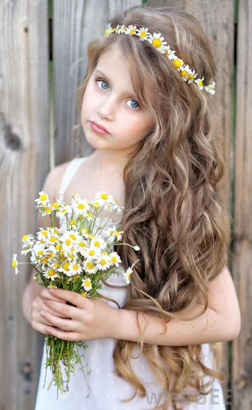 hair flower style 9 best hairstyles images on beautiful 4388 | 48ab14c78b31c9e8c4c4eee8e44874a9 kids hair styles flower girl dresses