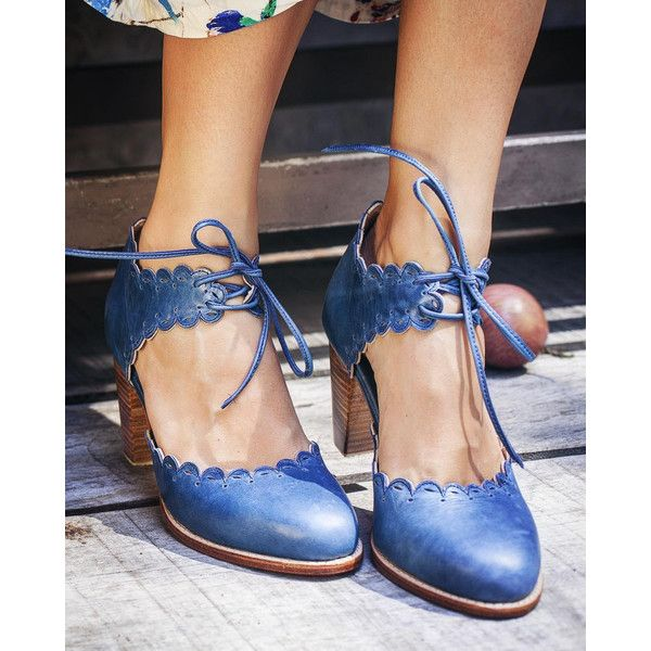 Dance Queen Leather Shoes Leather Heel Shoes Women Dance Shoes Wooden... (174,450 KRW) ❤ liked on Polyvore featuring shoes, oxfords, blue, oxfords & tie shoes, women's shoes, rubber sole shoes, checkered shoes, blue oxford shoes, cut-out oxfords and cut out shoes