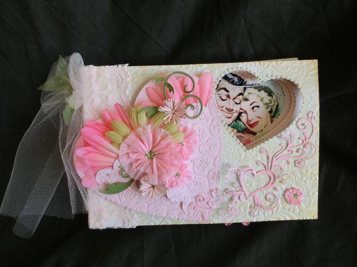 Love by:Yoko Imai(cre8) #スクラップブッキング #heart #minibook #embossing