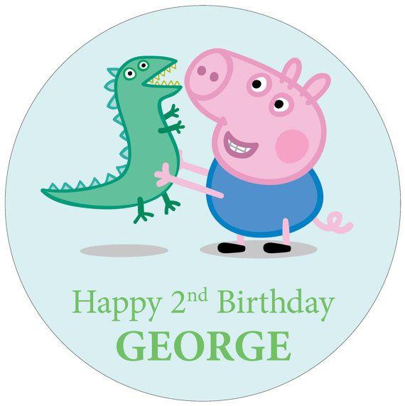 GEORGE PIG Cake Topper Decoration 7.5 / 19cm от ...