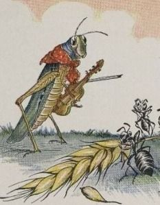 Aesop's Fable The Ant and the Grasshopper