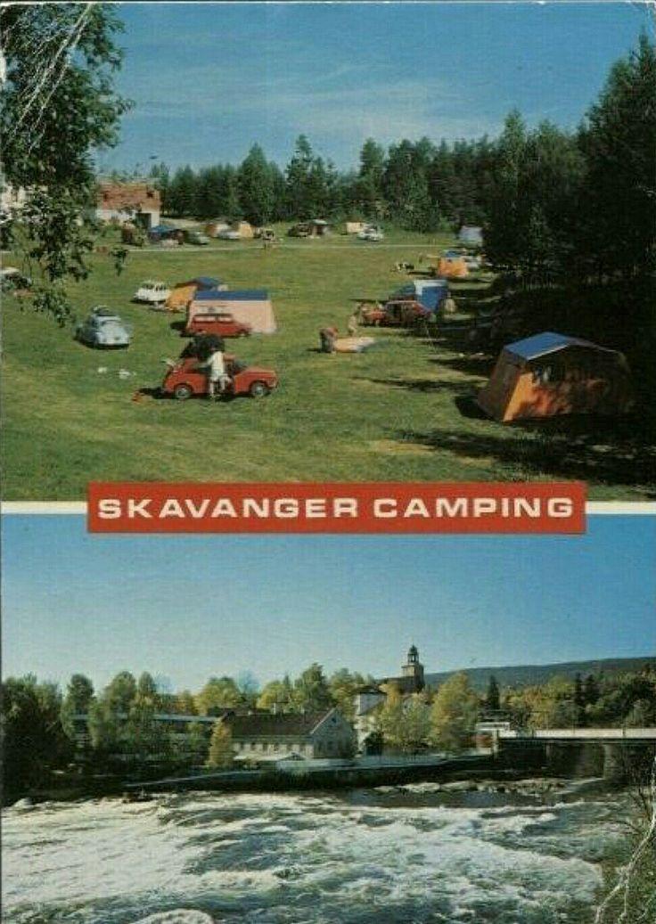 Buskerud fylke Kongsberg Skavanger camping og Nybrofossen 1970-tallet .