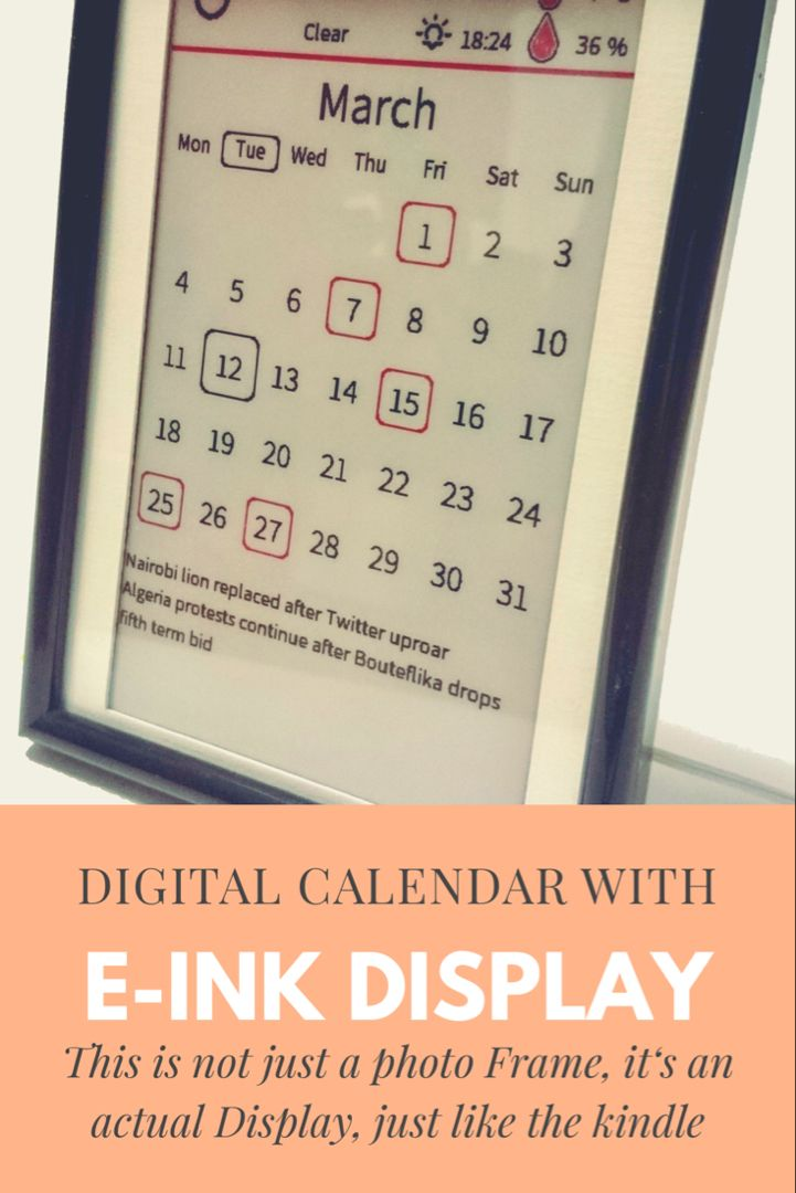 Github This 7 5 E Ink E Paper Calendar Will Help You Stay