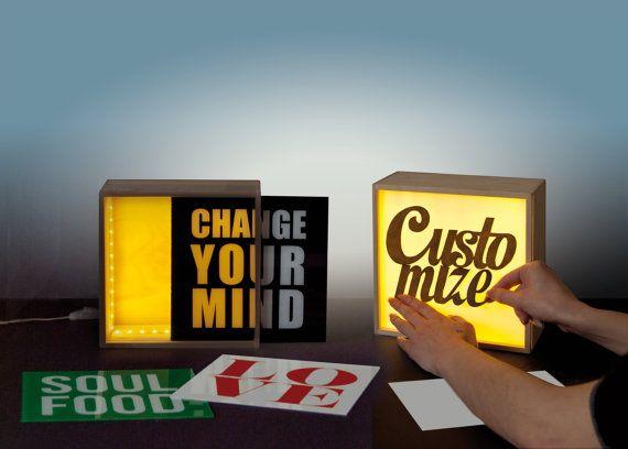 Mesa de luz retro rectángulo delgado por TheLetterLounge en Etsy