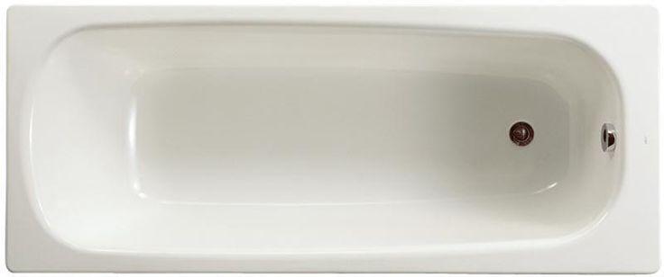 Cette baignoire Contesa en acier émaillé (épaisseur 1,5mm) présente les caractéristiques suivantes : - Bord plat. - Pieds métal à visser. - Fond lisse. - Non percée pour robinetterie.