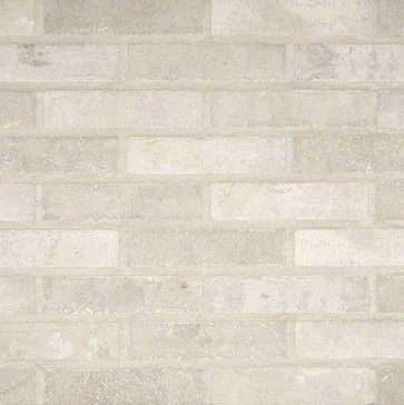 Sample of Capella Ivory Brick 2X10 Matte traditional-mosaic-tile