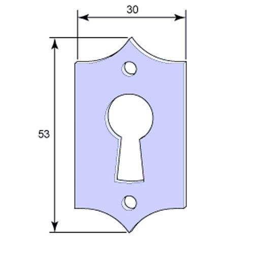 Nyckelskylt till kammarlås (n:o 1)