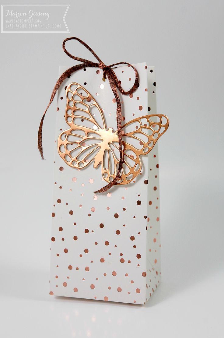 Stampin' Up, Verpackung, Geschenktüte, Frühlingsglanz Designerpapier Sale a bration, Kupfer