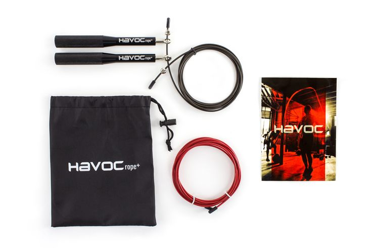 Just like your shoes, your jump rope has to be a good fit for you, both in length and weight. Say hello to the new HAVOCrope+