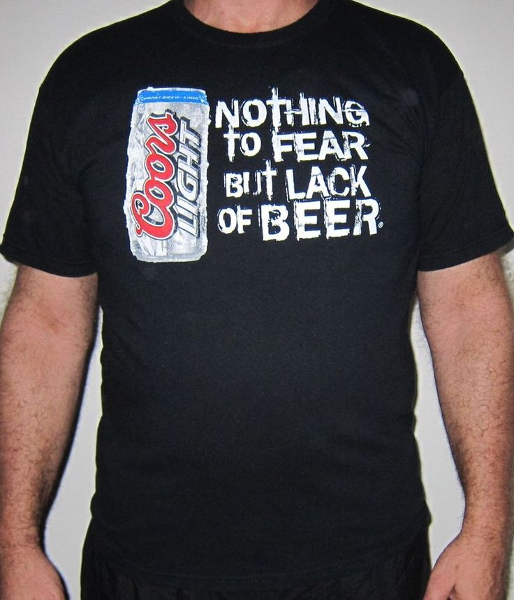"Men's L BREWSKEE'S of Shiloh Coors Light ""Nothing to Fear But Lack of Beer"" Tee #Gildan #GraphicTee"