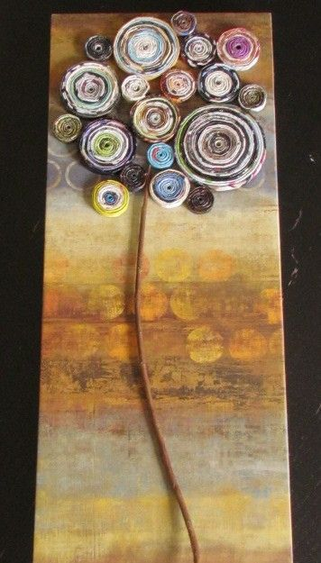 magazine paper roll project - FACT - you can make anything into some-what-tree-ish-looking and I will repin it. Every time.