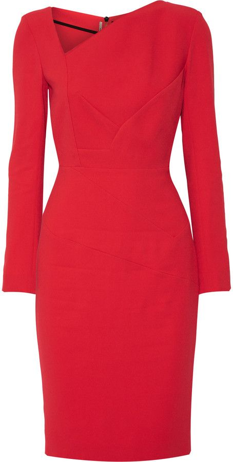 Roland Mouret Bitzer paneled stretch-crepe dress