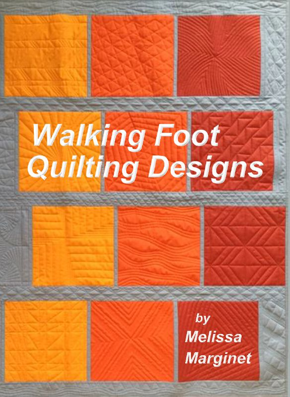 The designs are created for the walking foot but can also be used for free motion quilting, long arm quilting, and hand quilting. $25 + shipping