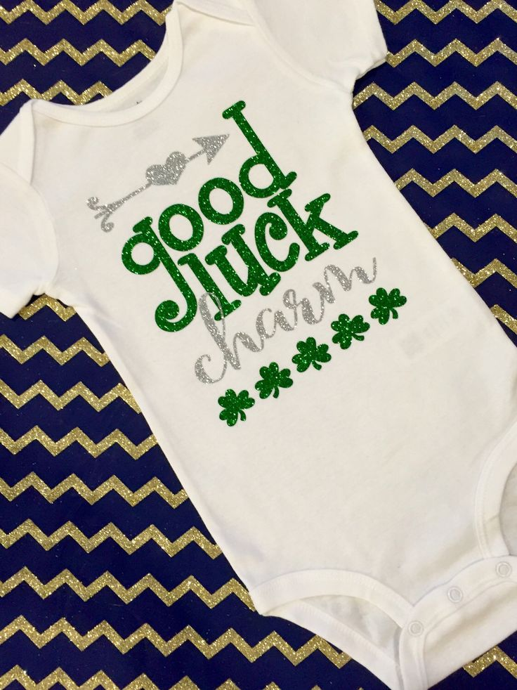 A personal favorite from my Etsy shop https://www.etsy.com/listing/269292436/st-patricks-day-onesie-st-pattys-day