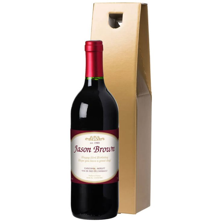 Personalised Bottle of Red Wine A unique and wonderful gift, the perfect gift for any special occasion. Personalisation Name (25 characters), Message (80 characters) and Year (4 characters). http://www.MightGet.com/january-2017-13/personalised-bottle-of-red-wine.asp