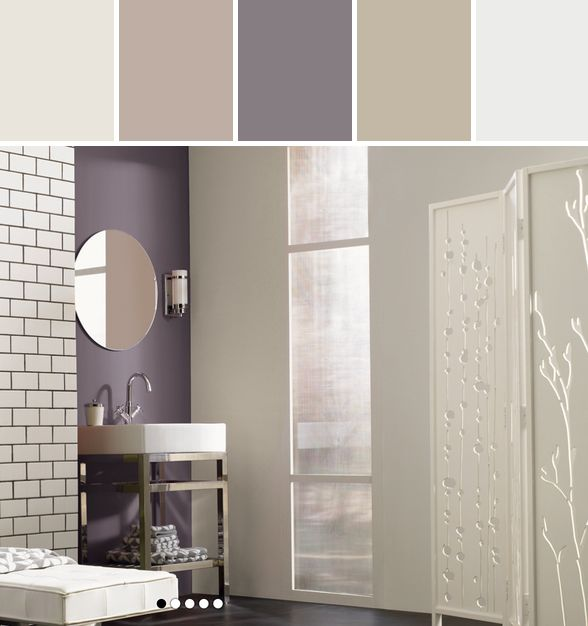 Exclusive Plum Bathroom Designed By Lisa Perrone | Stylyze Creative Director via Stylyze #colorpalettesilove