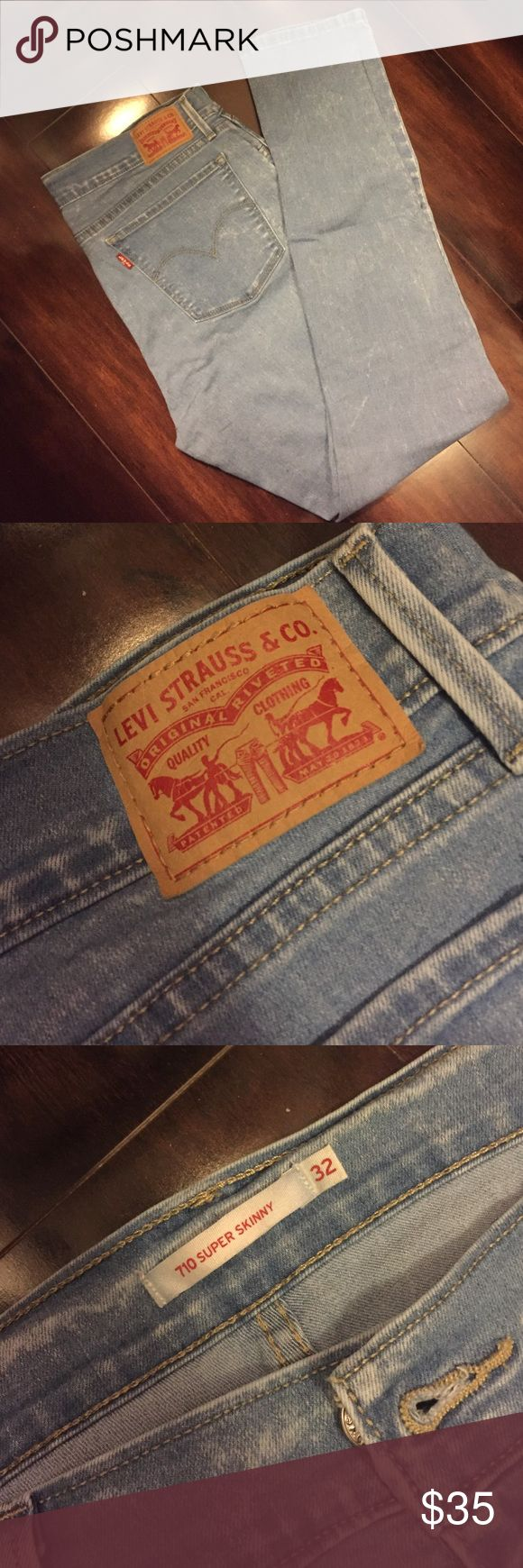 Women's Levi's stone wash super skinny jeans Had these jeans for a few months and only worn a couple of times. Levi's Jeans Skinny